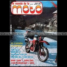 LE MONDE DE LA MOTO N°110-b HONDA XLV 750 MTX 80 GL 1100 YAMAHA XT 550 BSA A65
