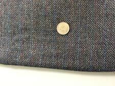 "Vintage blue gray tattersall plaid fleck marled plaid wool fabric 18"" L x 60"" W"