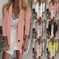 Fashion Womens Ladies Slim Fit Outwear Business Blazer Suit Jacket Tops Coat
