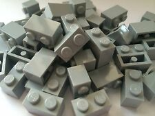 Lego Bulk Lot Of 50 1x2 Bricks Bluish Light Grey Gray NEW LIGHT Lite GREY