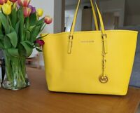Michael Kors Saffiano tote bag in yellow with original dust bag