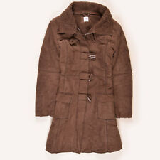 New Look Damen Mantel Jacke Coat Jacket Gr.42 Fleece-Futter Braun, 49990