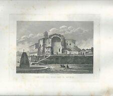 1848 TEMPIO DI VENERE E ROMA acquaforte su rame Cottafavi
