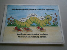 """Funny TRI CHEM Completed 12"""" x 9"""" Painting Without Frame Approaching Middle Age"""