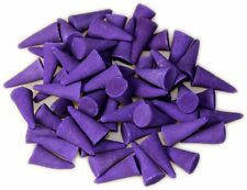 15 CONI INCENSO LAVANDA fiore india artigianali fragranze biologico yoga relax