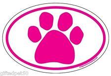 Pink Paw Print Euro Magnet