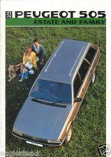 Auto Brochure - Peugeot - 505 - Estate Family - 1986 (AB259)