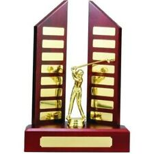 Perpetual Trophy with Centre Figurine 330mm (20 Plates) Timber Veneered