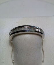 .50cttw Traditional Channel Baguette Diamond Solid Sterling Silver Band #1940