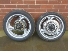Honda NT650V Deauville 98 Front and Rear Wheels Set and Drive Gear Spindle x2