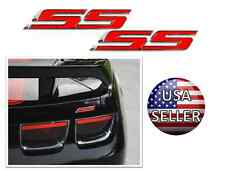 Factory OEM SS Super Sport Front Grill Red Chrome Emblem Badge Logo Decal Pair