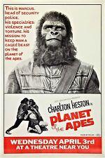 Encadré retro movie poster – la planète des singes 1968 (réplique imprimer cinema film)