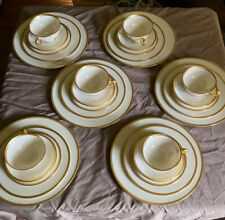 "Lenox ""Tuxedo"" China Six Complete Place Settings Total Of 30 Pieces Made In USA"