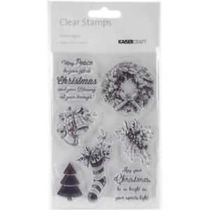 "Kaisercraft Silent Night  Clear Stamps 4"" X 6"" CS271 Christmas Wreath Stocking"
