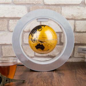 """4""""Large Magnetic Levitation Display Floating Earth Globe Map O Shape LED Light"""