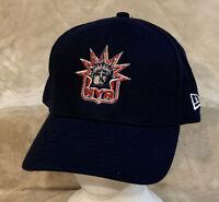 New York Rangers Statue Liberty New Era Adult OSFA Blue Strapback Hat Cap NHL