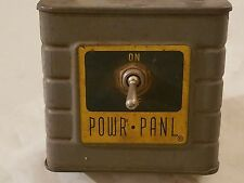 RARE WORKING SEARS CRAFTSMAN TABLE SAW POWR PANL POWER PANEL SWITCHBOX Vintage