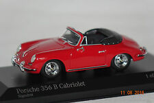 Porsche 356 B Cabrio 1960 rot 1 of 504 1:43 Minichamps neu & OVP 400064331