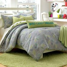 Steve Madden Chelsea 4pc Mod Floral Twin Comforter Set w/Sham-Body Pillow-Throw