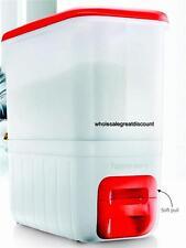 NEW TUPPERWARE SLIM RECTANGLE RICE SMART DISPENSER RICESMART RED WHITE 10KG