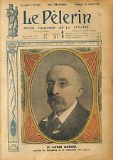 Portrait Louis Dubois Ministre du Commerce et de l'Industrie 1920 ILLUSTRATION
