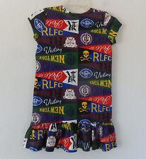 nwt~Ralph LAUREN POLO PENNANT COTTON Dress Shirt PRINT Patchwork~Girl sz L/12-14
