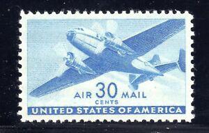U.S. STAMP #C30 30c TRANSPORT PLANE AIRMAIL SUPERB - MINT - GRADED 98