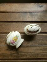 Salt / Pepper Shakers Royal China Quban Royal Warranted 22K Gold Vintage Roses