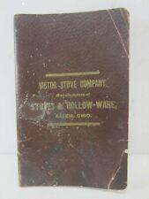 1887 Victor Stove Co. Illustrated Price List Salem, Ohio
