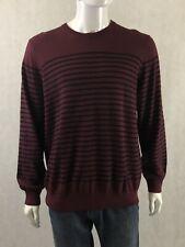 Men's L.L. BEAN Thin KNIT Burgundy Cotton Cashmere blend SWEATER NWT Sz LARGE L