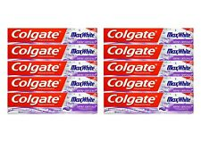 10x 100ml Colgate Max White Shine Crystals Toothpaste Zahnpasta mit Fluorid NEU