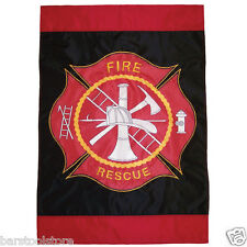 """New listing Fire Rescue House Banner 28""""x40"""" Firefighter Flag 4326"""