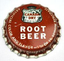 Vintage Canada Dry Root Beer Kronkorken USA Soda Bottle Cap Plastikdichtung