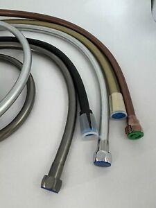 Shower hand held Rubber hose 1.5 meter matte black brass copper gunmetal chrome