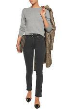 Acne Needle Rocca High Waisted Skinny Jeans Gray Denim Women's 24