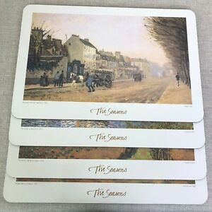 Placemats The Seasons by Famous Artists 4 Rectangular Placemats