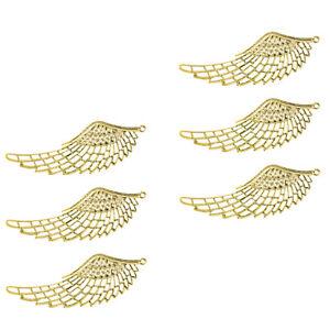 6Pcs Golden Filigree Angel  Charms Pendant Jewelry DIY Making Findings