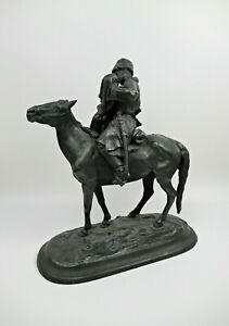 Skulptur Eisen Evgeni Alexandrovich Lanceray ~ 1890 Cossacks Farewell iron rare