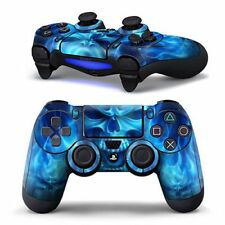 PS4 Controller Decal Sticker Skin - Blue Skull Flames For Dualshock 4 Controller