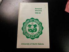 university of north dakota UND personal directory 1980-81 calendar phone #s info