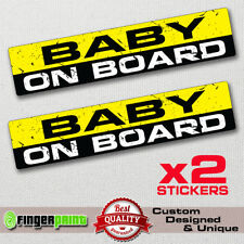 BABY ON BOARD funny sticker decal child safety bumper window warning sign JDM VW