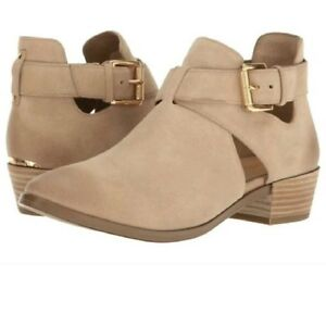 MICHAEL KORS MERCER CUT OUT BUCKLE LOGO PLATE 2 COLORS BOOTIES I LOVE SHOES