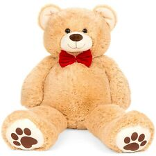 Best Choice Products 38in Giant Soft Plush Teddy Bear Stuffed Animal Toy w/ Red