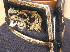 Ralph Lauren wool blend Military HI Mock Neck jacket blazer w/gold trim PL NEW