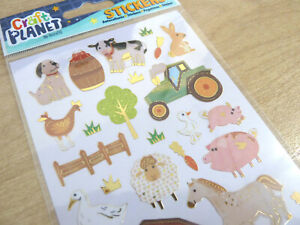 Small Kids Farm Animal & Farmyard, Labels Stickers for Craft WD-11