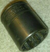 Walden worcester 1 1/16 Socket 1/2 Drive 1834 USA