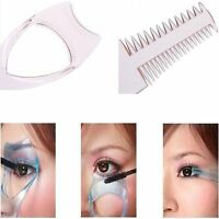 3in1 Eyelash Brush Mascara Shield Guard Curler Applicator Tool Comb Cosmetic