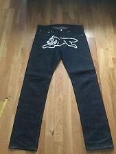 Billionaire boys club white running dog vtg jeans size 31w 31L vgc
