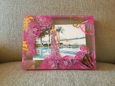LILLY PULITZER COCO CORAL SHELLS PHOTO FRAME PINK GOLD 6 X 8 PICTURE FRAME NEW