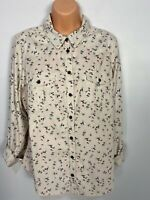BNWT WOMENS MARKS & SPENCER UK 18 LAVENDER MIX FLORAL CORDUROY SHIRT BLOUSE TOP